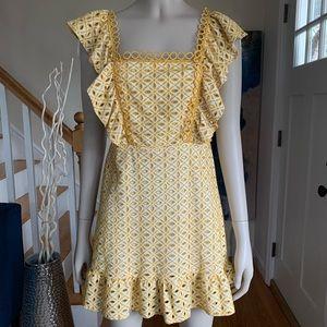 🏷NWT TOPSHOP Yellow Broderie Mini Dress